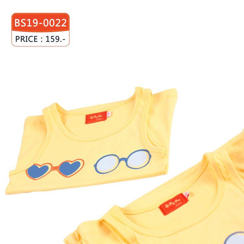 เสื้อกล้าม เด็กผู้หญิง สีเหลือง